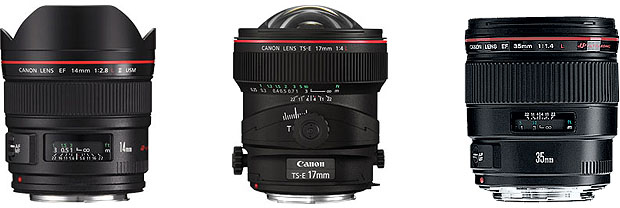 Canon wide angle lenses