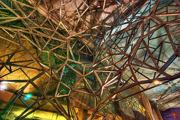 Interior of Federation Square, Melbourne