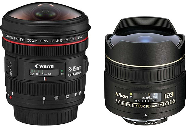 Canon and Nikon fisheye lenses