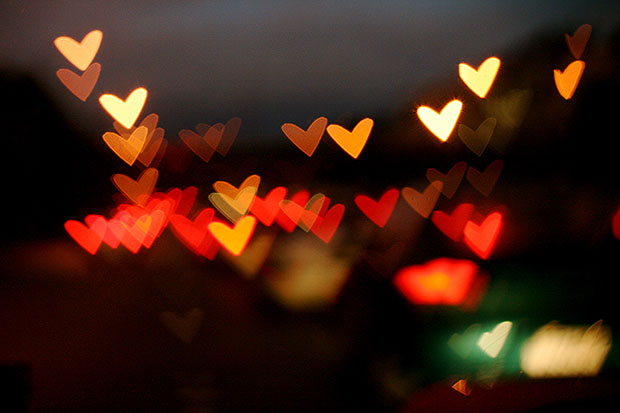 Heart shaped lights
