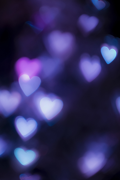 Purple heart bokeh