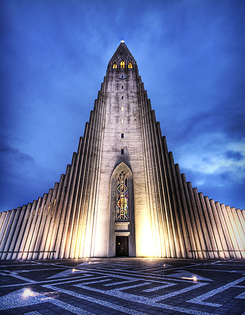 modern architectural photography. Hallgrímskirkja Church In Iceland Modern Architectural Photography