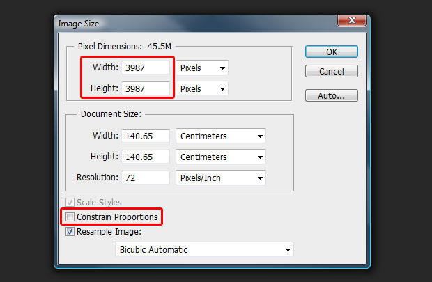 Make your photo square with Photoshop's Image Size tool