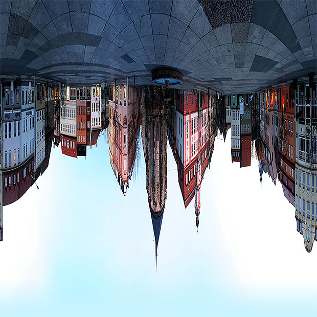 Upside down panorama