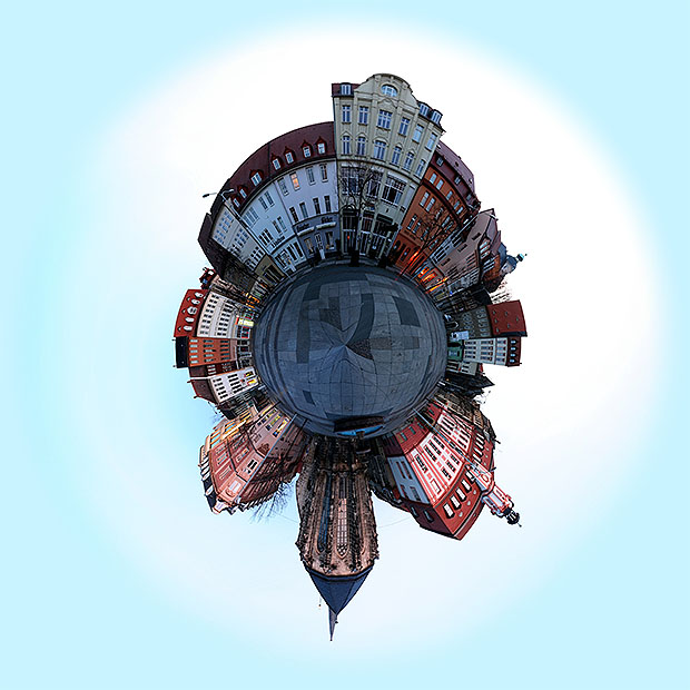 Little planet photo made in Photoshop