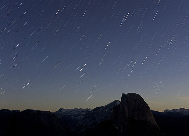 Star trails with a relatively short exposure time