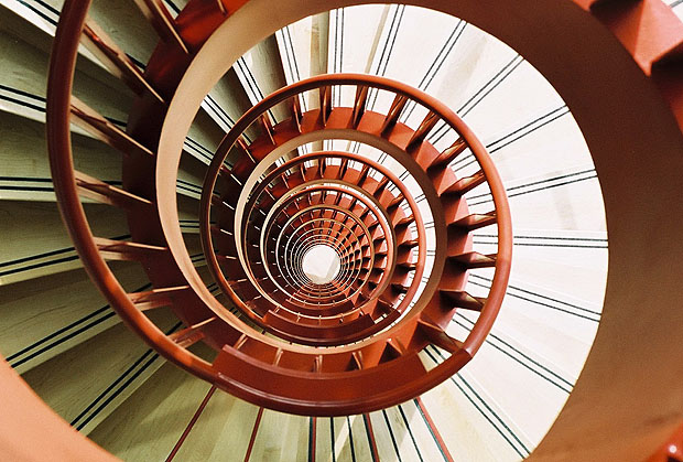 Spiral stairscase from above