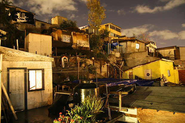 Shanty town on the hills of Tijuana