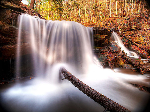 Waterfall with blurred motion
