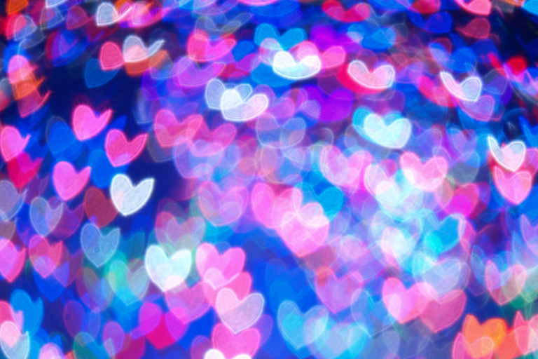 49 Beautiful Heart Shaped Bokeh Photos